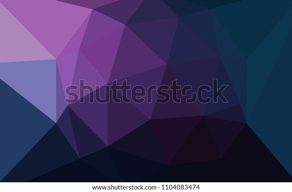 Dark Pink, Blue vector gradient triangles pattern. Modern abstract illustration with triangles. Completely new template for your banner.