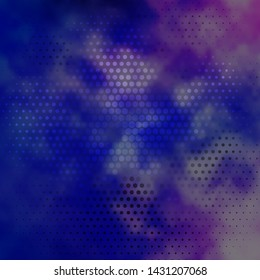 Dark Pink, Blue vector layout with circles. Illustration with set of shining colorful abstract spheres. Pattern for wallpapers, curtains.