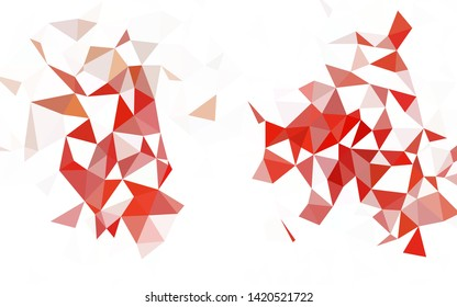 Dark Pink, Blue vector low poly background. Polygonal abstract illustration with gradient. Best triangular design for your business.