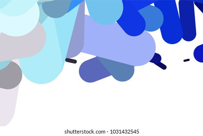 Dark Pink, Blue vector pattern with rounded lines. Glitter abstract illustration with colored sticks. The template can be used as a background.