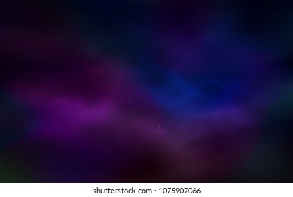 Dark Pink, Blue vector pattern with night sky stars. Shining illustration with sky stars on abstract template. Smart design for your business advert.