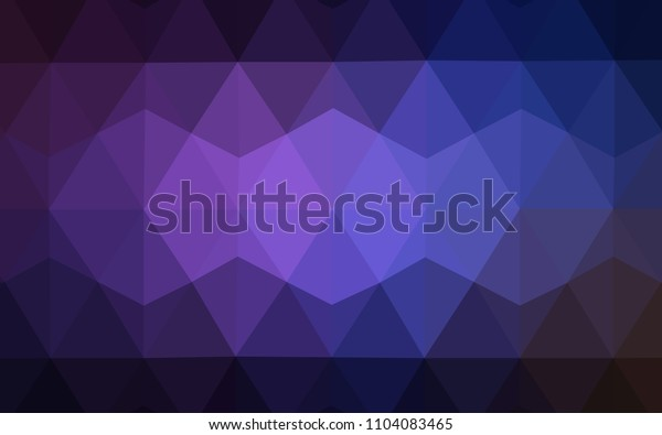 Dark Pink, Blue vector polygon abstract backdrop. Geometric illustration in Origami style with gradient.  Best triangular design for your business.