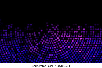 Dark Pink, Blue vector red pattern of geometric circles, shapes. Colorful mosaic banner. Geometric background with colored disks.