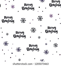 Dark Pink, Blue vector seamless texture with colored snowflakes. Shining colorful illustration with snow in christmas style. Design for textile, fabric, wallpapers.