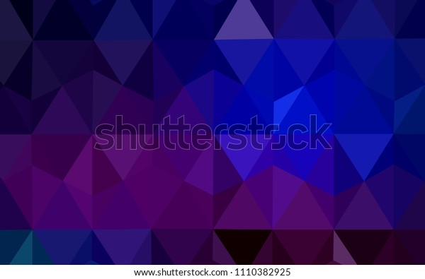 Dark Pink, Blue vector shining triangular backdrop. Colorful illustration in abstract style with triangles. Polygonal design for your web site.