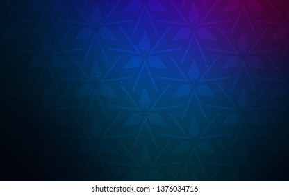 Dark Pink, Blue vector template with crystals, triangles. Triangles on abstract background with colorful gradient. Pattern for booklets, leaflets