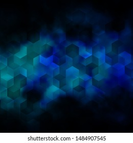 Dark Pink, Blue vector template in hexagonal style. Colorful hexagons on blur backdrop. Pattern for ads, leaflets.