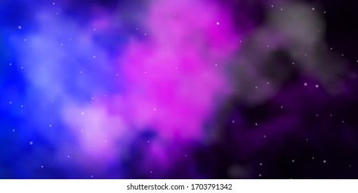 Dark Pink, Blue vector texture with beautiful stars. Modern geometric abstract illustration with stars. Theme for cell phones.