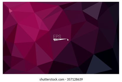 Dark pink geometric rumpled triangular low poly origami style gradient illustration graphic background. Vector polygonal design for your business.