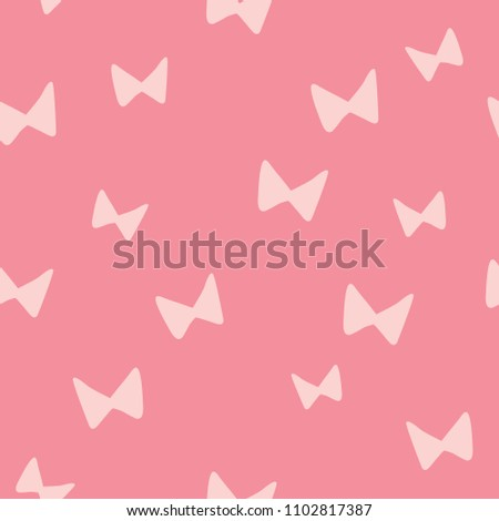 Dark Pink Handdrawn Abstract Bow Tie Stock Vector Royalty Free