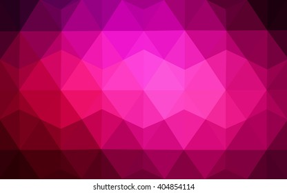Dark pink polygonal illustration, which consist of triangles. Geometric background in Origami style with gradient. Triangular design for your business.