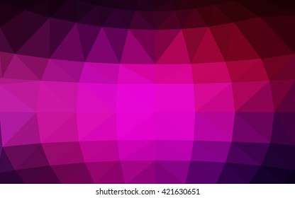 Dark pink polygonal illustration, which consist of triangles. Triangular design for your business. Creative geometric background in Origami style with gradient.