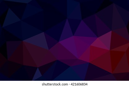 Dark pink, red polygonal illustration, which consist of triangles. Triangular design for your business. Geometric background in Origami style with gradient.