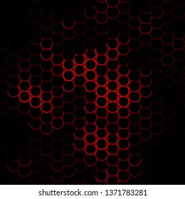 Dark Pink, Red vector texture with circles. Illustration with set of shining colorful abstract spheres. Design for posters, banners.