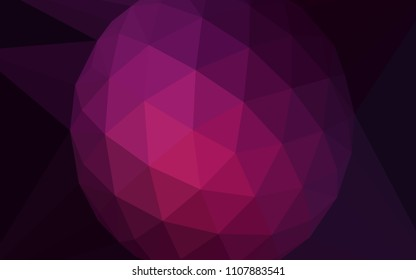 Dark Pink vector abstract mosaic backdrop with a diamond. A sample with polygonal shapes. A new texture for your web site.