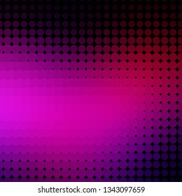 Dark Pink vector layout with circles. Abstract illustration with colorful spots in nature style. Pattern for business ads.