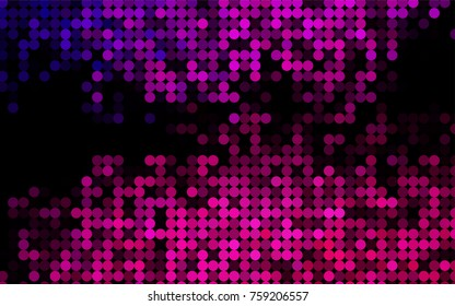 Dark Pink vector modern geometrical circle abstract background. Dotted texture template. Geometric pattern in halftone style with gradient.