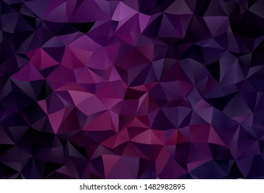 Dark Pink vector shining triangular layout. A completely new color illustration in a polygonal style. A new texture for your web site.