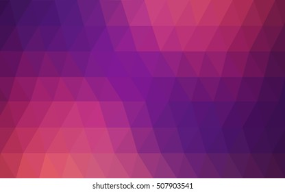Dark pink, yellow abstract polygonal pattern. Shining colored illustration in a brand-new style. Brand-new design for your business.
