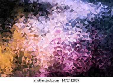 Dark Pink, Yellow vector low poly layout. A sample with polygonal shapes. Template for cell phone's backgrounds.