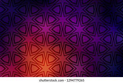 Dark Pink, Yellow vector pattern with christmas stars. Glitter abstract illustration with colored stars. Template for sell phone backgrounds.