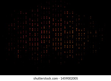 Dark Pink, Yellow vector pattern with EUR, JPY, GBP. Shining colored illustration with EUR, JPY, GBP signs. Smart design for your business advert of economic, wealth.