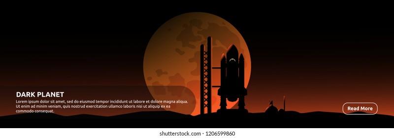 Dark Planet - Banner Design