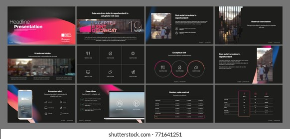 Dark Presentation templates element . Vector infographics. Use in Presentation, flyer and leaflet, corporate report, marketing, advertising, annual report, banner.