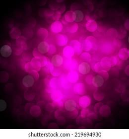 Dark Purple Defocused Light, Flickering Lights, Vector abstract festive background with bokeh defocused lights.