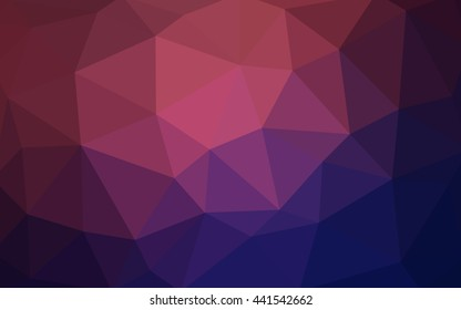 Dark purple, pink polygonal illustration, which consist of triangles. Triangular design for your business. Geometric background in Origami style with gradient.