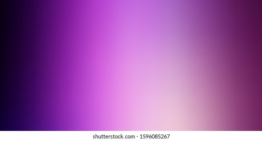 Dark Purple, Pink vector blurred template. Abstract colorful illustration with gradient. Best design for your business.