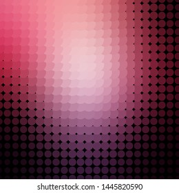 Dark Purple, Pink vector layout with circles. Abstract illustration with colorful spots in nature style. Pattern for wallpapers, curtains.