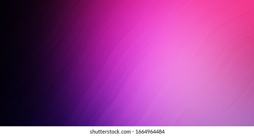 Dark Purple, Pink vector layout with circular arc. Colorful illustration in circular style with lines. Pattern for websites, landing pages.