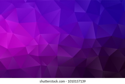 Dark Purple, Pink vector polygon abstract template. A completely new color illustration in a vague style. A completely new design for your business.