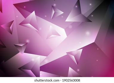 Dark Purple, Pink vector polygon abstract background. Creative geometric illustration in Origami style with gradient. Brand new style for your business design.