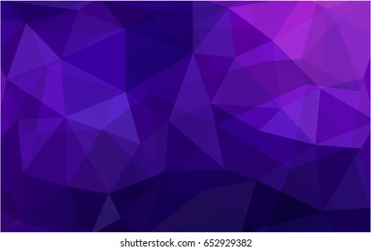 Dark Purple, Pink vector polygonal illustration, which consist of triangles. Triangular pattern for your business design. Geometric background in Origami style with gradient.