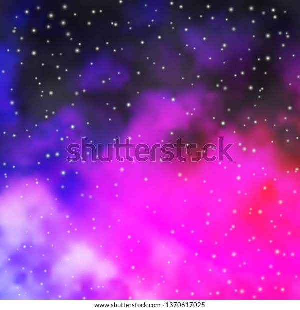 Dark Purple, Pink vector template with neon stars. Shining colorful illustration with small and big stars. Design for your business promotion.