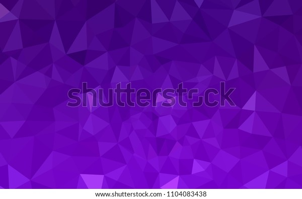 Dark Purple, Pink vector triangle mosaic template. Colorful illustration in abstract style with triangles. Template for cell phone's backgrounds.
