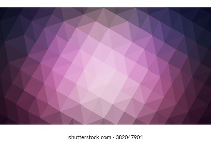 Dark purple polygonal illustration, which consist of triangles. Geometric background in Origami style with gradient. Triangular design for your business.