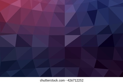 Dark purple polygonal illustration, which consist of triangles. Triangular design for your business. Geometric background in Origami style with gradient.