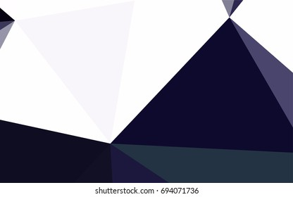 Dark Purple vector abstract colorful background, which consist of triangles. Pattern with colored triangles on white background.