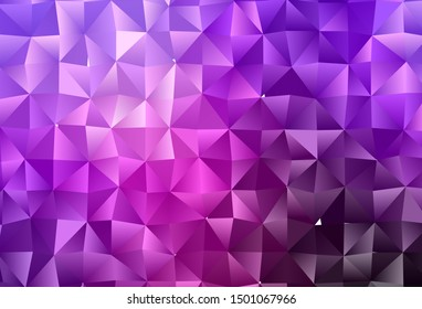 Dark Purple vector abstract polygonal texture. An elegant bright illustration with gradient. Template for your brand book.
