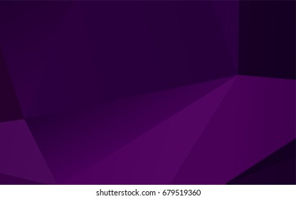Dark Purple vector abstract polygonal pattern. Modern geometrical abstract illustration with gradient. The best triangular design for your business.