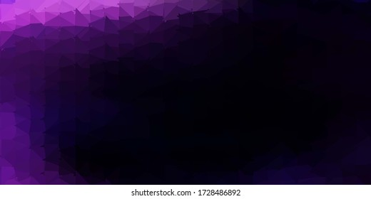 Dark purple vector abstract triangle texture. Abstract illustration with elegant gradient triangles. Modern design for your apps.