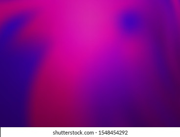 Dark Purple vector blurred and colored background. Colorful abstract illustration with gradient. A completely new template for your design.