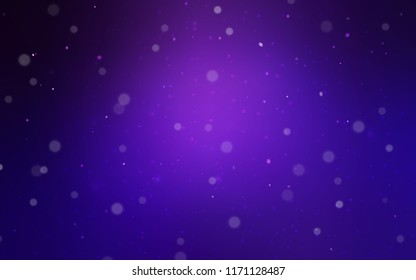 Dark Purple vector cover with beautiful snowflakes. Shining colored illustration with snow in christmas style. The pattern can be used for new year leaflets.