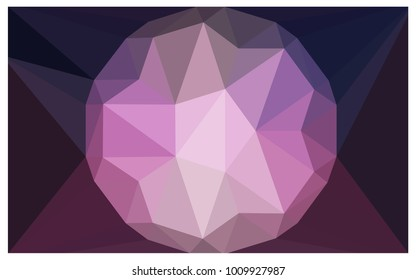 Dark Purple vector diamond Pattern. Geometric Gemstone sample. Repeating template with a gem in center. Jewelry gems texture for your design. Pattern can be used for background.