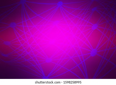 Dark Purple vector glossy abstract background. Abstract colorful illustration with gradient. New style for your business design.
