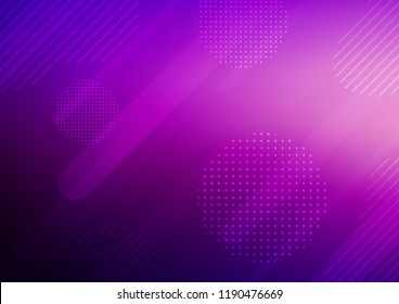 Dark Purple vector layout with flat lines and dots. Capsules on blurred abstract background with gradient dots. The pattern can be used for busines ad, booklets, leaflets