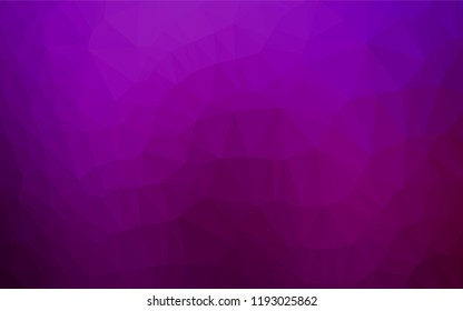 Dark Purple vector low poly cover. Modern geometrical abstract illustration with gradient. A new texture for your design.